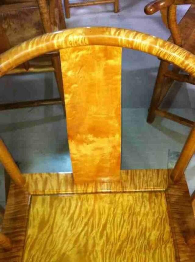 金丝楠木家具系列:精品小叶桢楠满水波太师椅