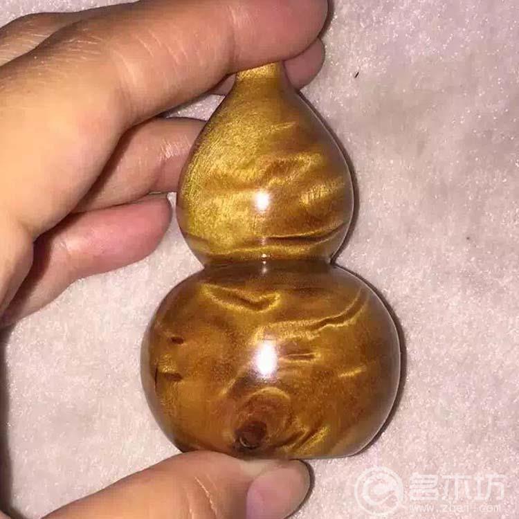 金丝楠木小葫芦手把件
