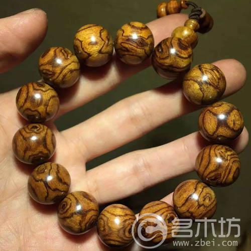 海南黄花梨1.6鬼脸花纹清晰小精品