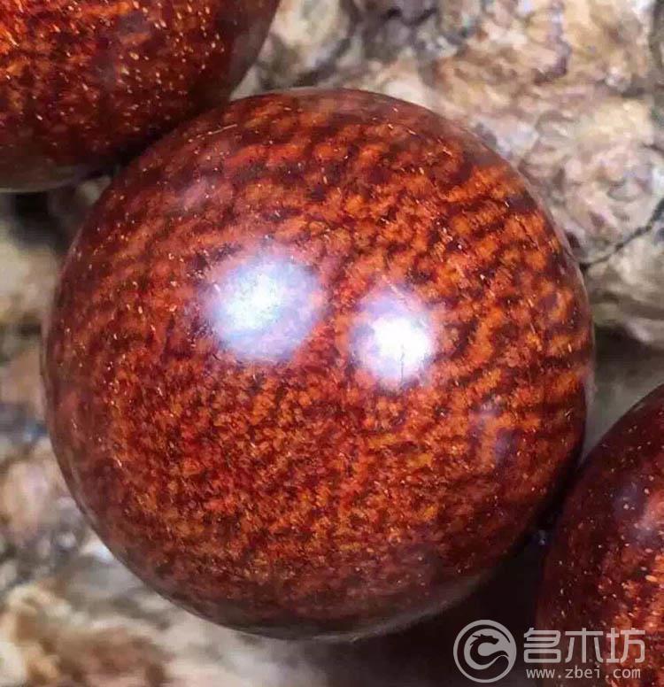 极品小叶紫檀360龙鳞纹大鱼鳞手串2