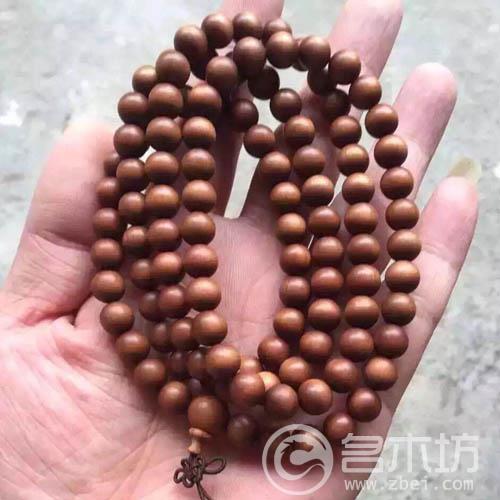 印度老山檀香木手串0.8黑肉沉水108颗