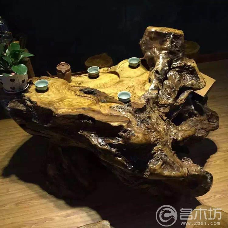金丝楠木茶盘(小叶桢楠)茶台,龙胆花纹茶海