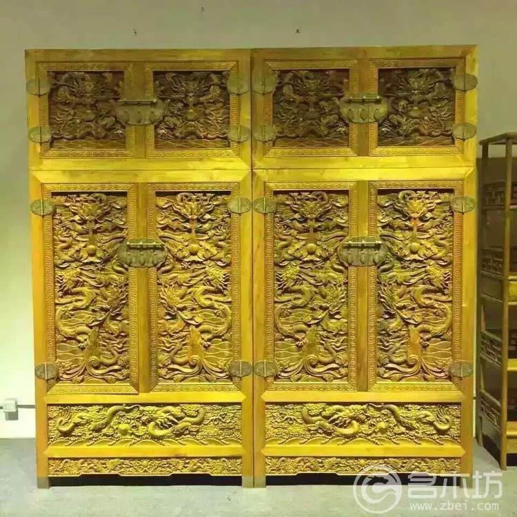 金丝楠木家具雕龙顶箱柜