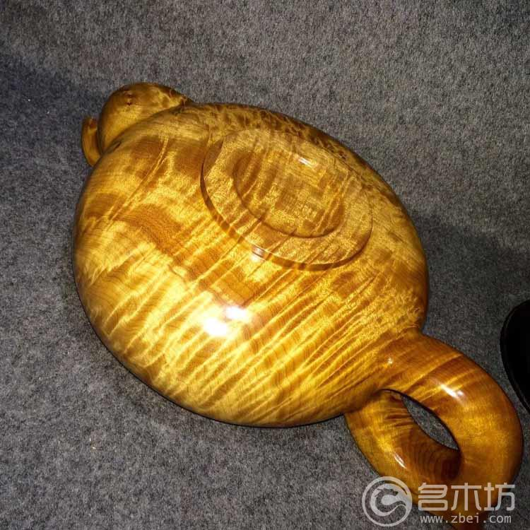 金丝楠木极品龙胆 云彩纹 茶壶