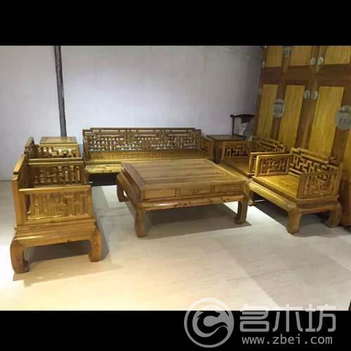 金丝楠木家具之沙发八件套。全虎皮纹