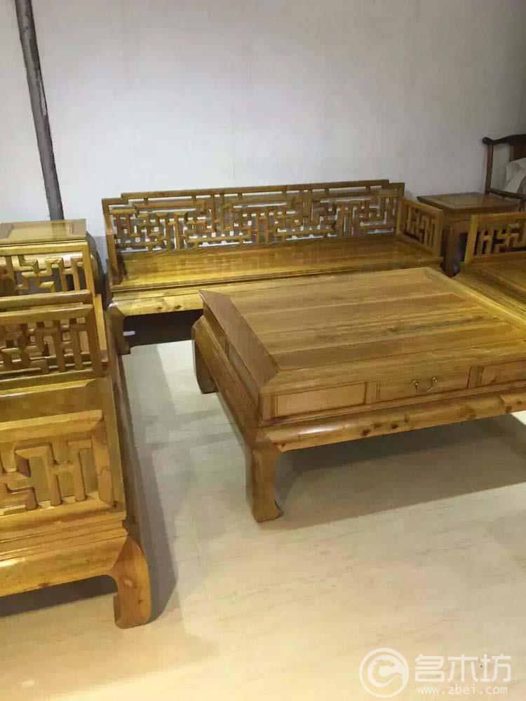 金丝楠木家具之沙发八件套.全虎皮纹