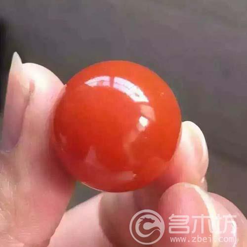 收藏级!南红玛瑙樱桃红满肉满色单珠