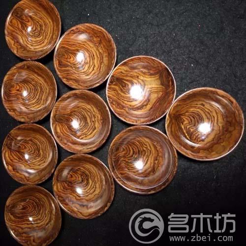 越南黄花梨越黄工艺品大碗一套