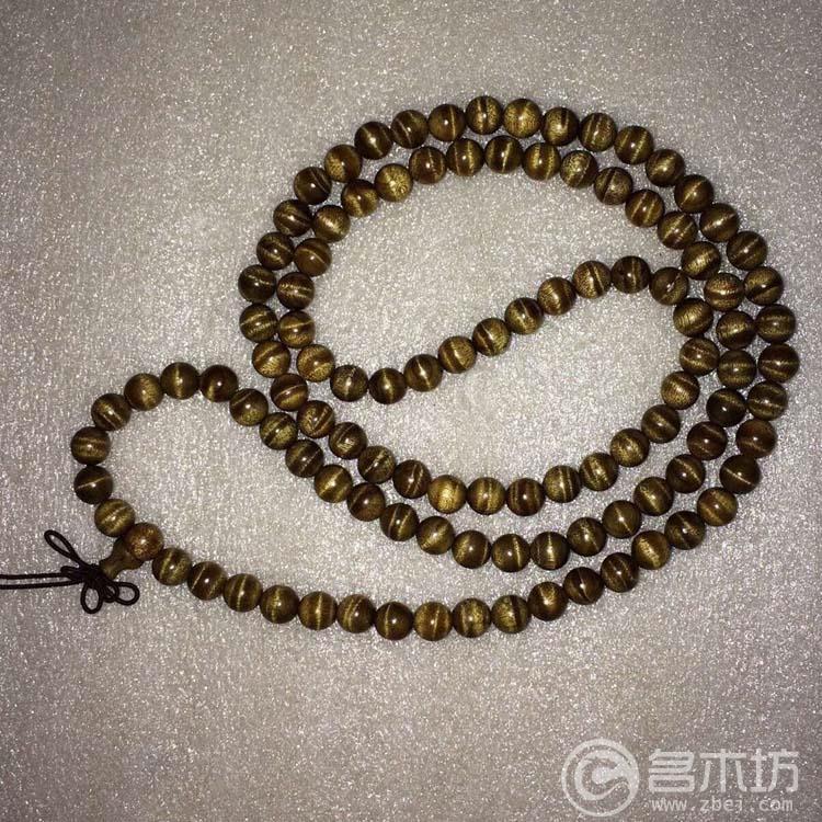 金丝楠枯木黑金0.8*108颗佛珠念珠手串