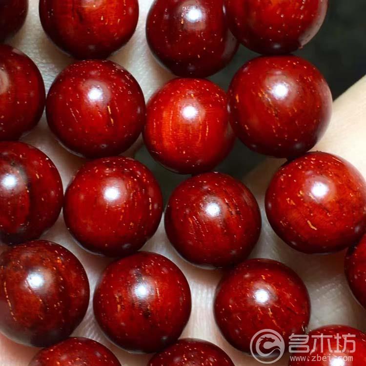 小叶紫檀手链0.8-108颗手串带金星,底色红润,棕眼少,油密好