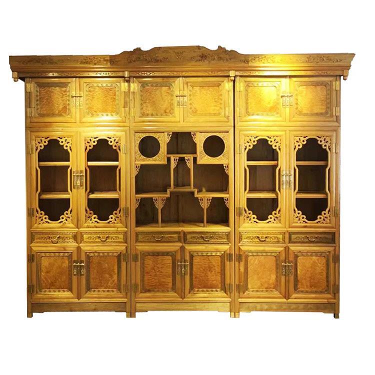 金丝楠木家具之精品三组合书柜