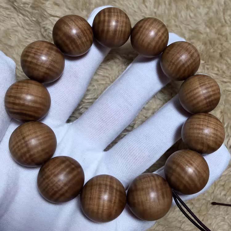 极品老山檀水波纹手串规格有2.0-1.8-1.5