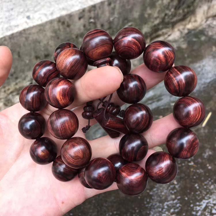 海南黄花梨油梨老料1.8*13颗手串