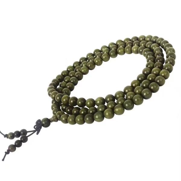 绿檀0.8-108颗念珠手链