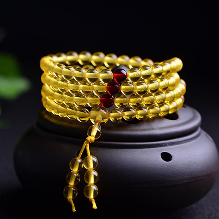 二代蜜蜡琥珀金珀0.6-108颗手链