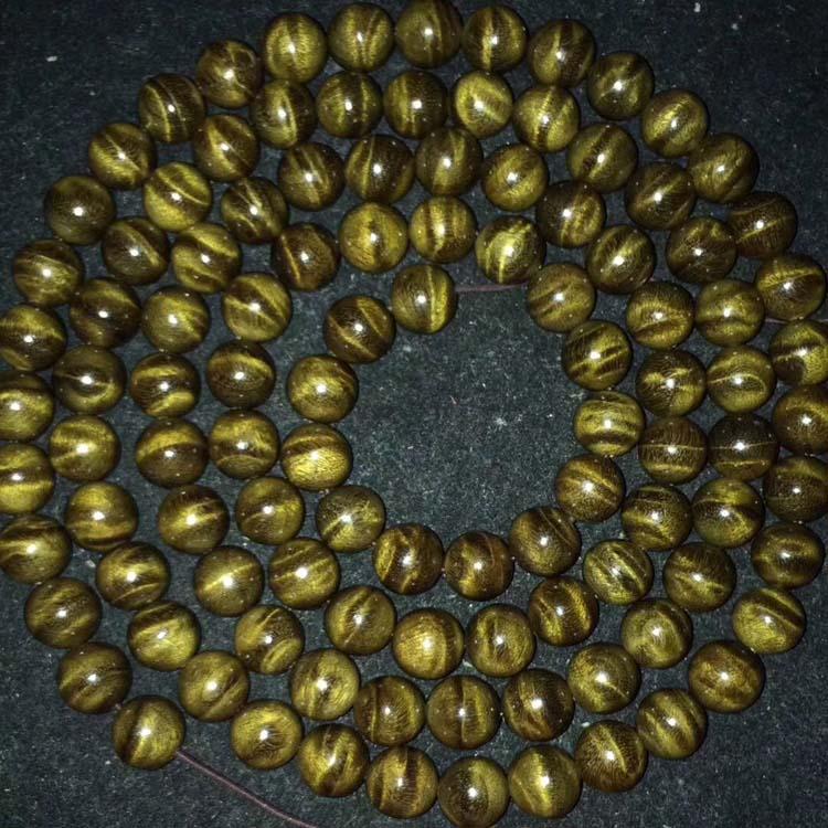阴沉金丝楠木精品 1.0水波108颗360度念珠手链