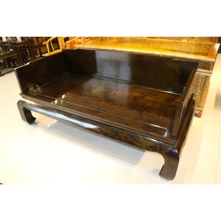 收藏品阴沉金丝楠乌木罗汉床,一木一器