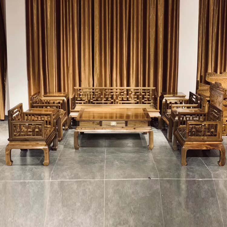 金丝楠木拆房料,曲尺沙发十件套主图