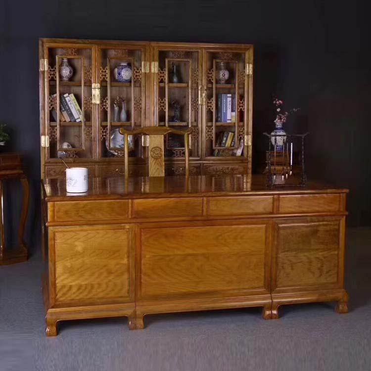 金丝楠木书柜办公桌
