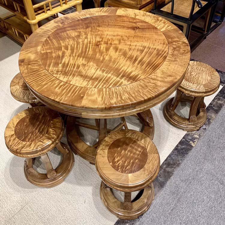 金丝楠木(小叶桢楠)圆鼓桌