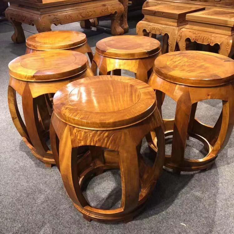 金丝楠木鼓凳