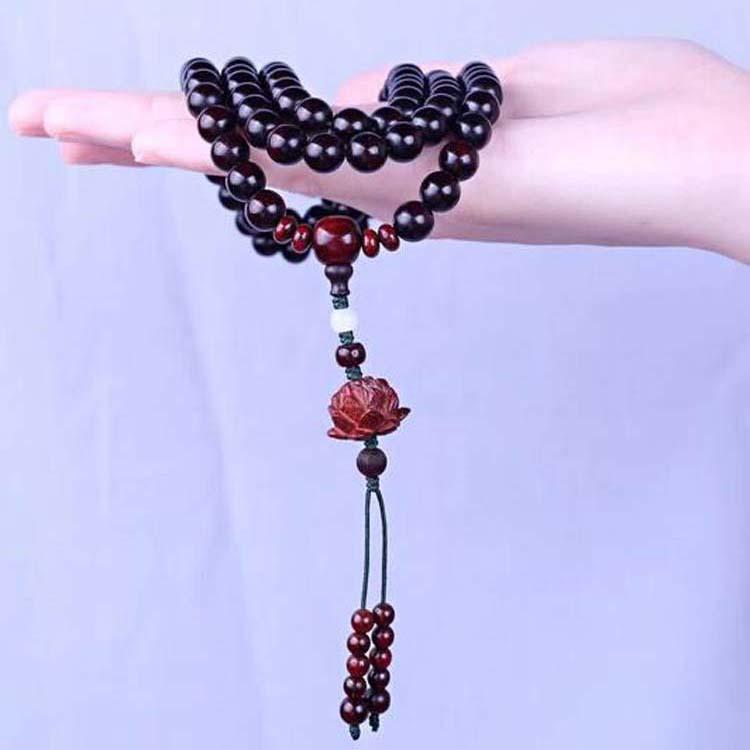 小叶紫檀0.8-108颗念珠手链