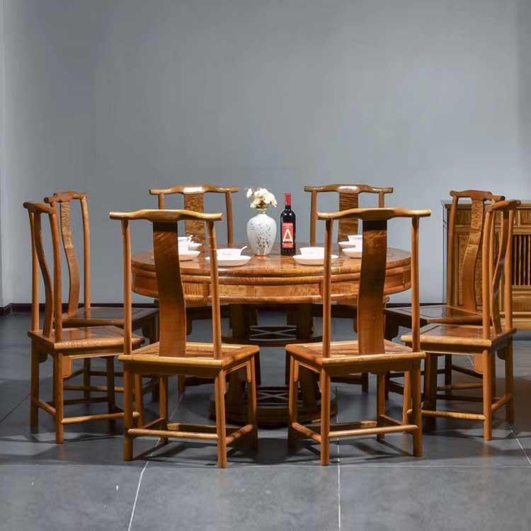 金丝楠(小叶桢楠)1.38米圆餐桌/圆桌主图