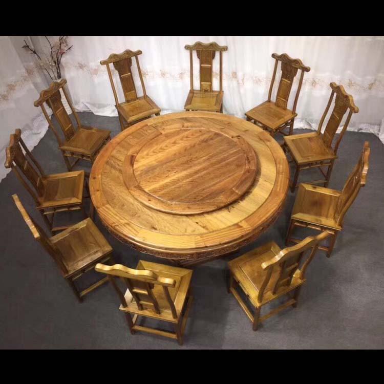 金丝楠木餐桌小叶桢楠尺寸:180X180X80