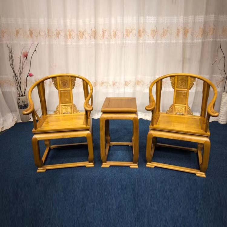 金丝楠木小叶桢楠素料黄冠椅