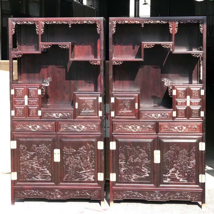 印度小叶紫檀龙头书柜,老料