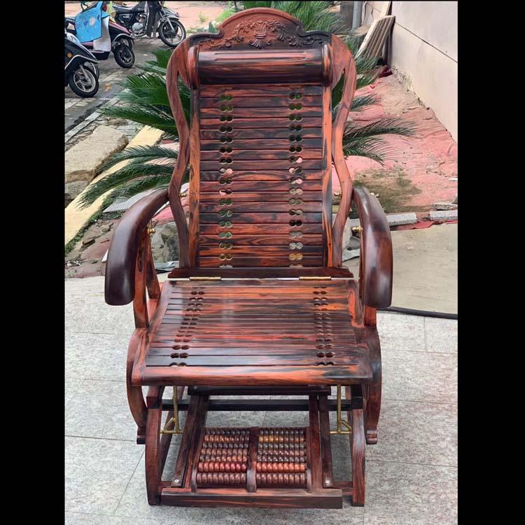 老挝大红酸枝老料摇椅