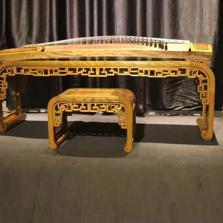 金丝楠木古筝加琴桌