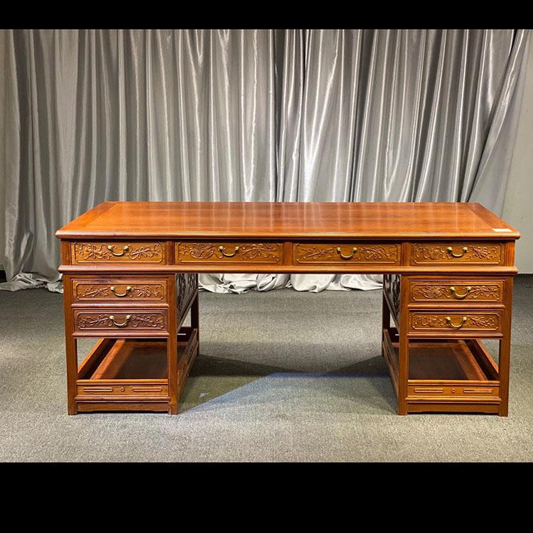 缅甸黄花梨写字台办公桌
