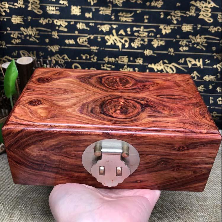 海南黄花梨瘤疤小精品首饰盒