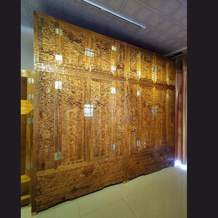 金丝楠木雕龙大衣柜,加大龙柜