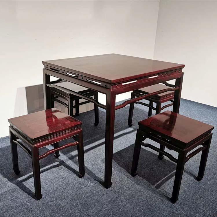 小叶紫檀休闲桌五件套