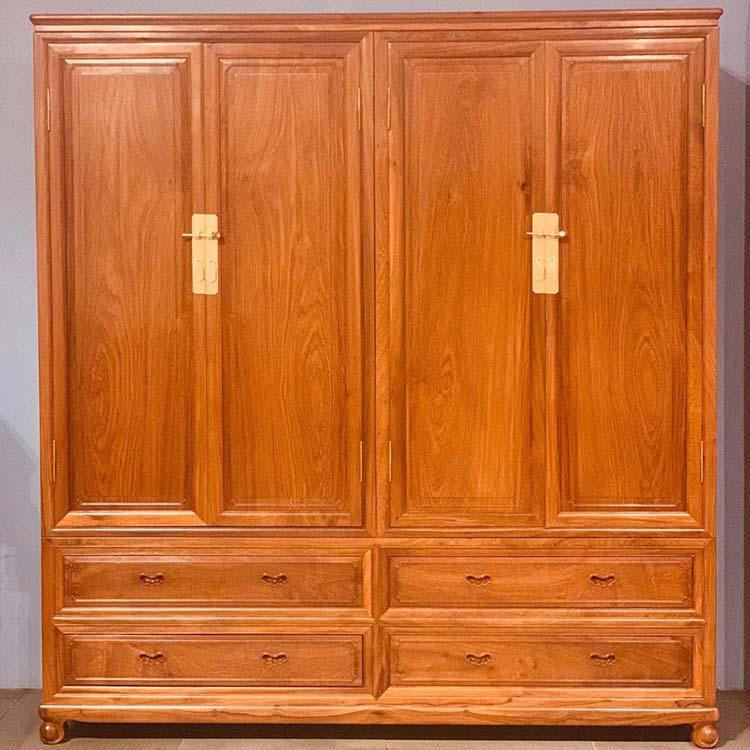 缅甸黄花梨(大果紫檀)大衣柜