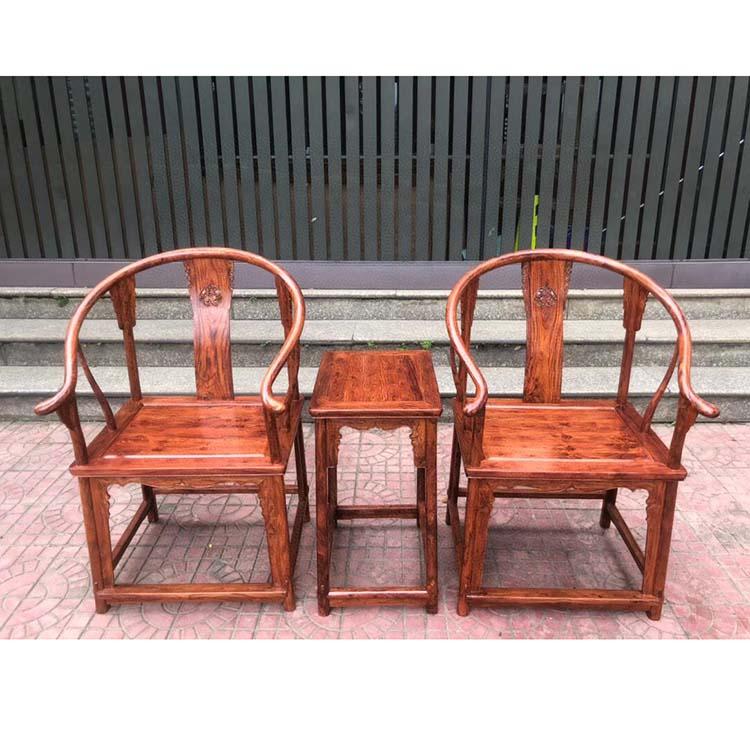 海南黄花梨出榫工艺麒麟圈椅三件套