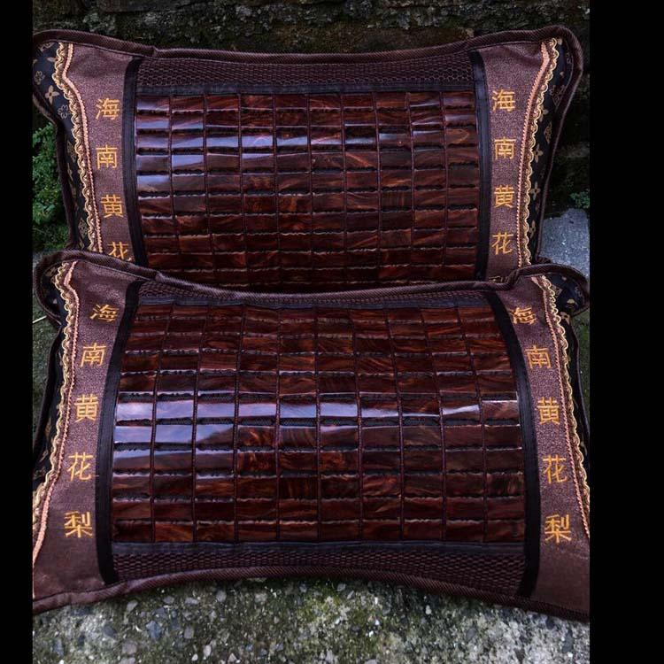 精品海黄野生千百年老料紫油梨养生枕头