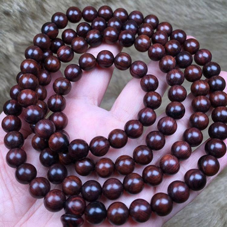 海黄顶级老油梨0.8*108海南黄花梨手链