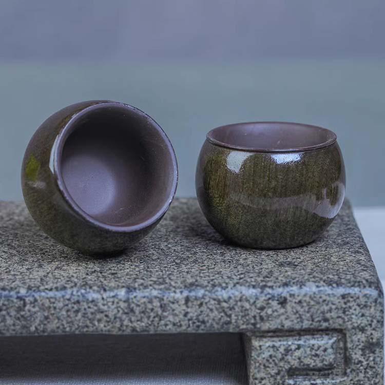 阴沉乌木金丝楠木宜兴紫砂壶【茶杯】主图