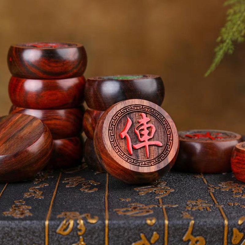 老挝大红酸枝红木精品中国象棋批发