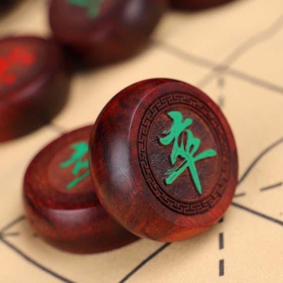 印度小叶紫檀象棋,红木中国象棋
