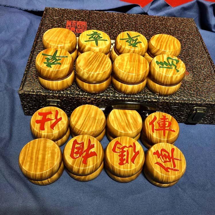 小叶桢楠金丝楠木满水波纹中国5.8象棋主图