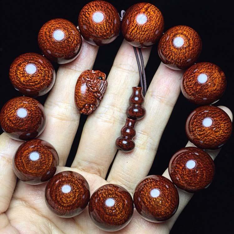 小叶紫檀精品1.8×13颗,大龙鳞金星同料龙鳞手串